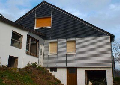 Sanierung einer Giebelfassade eines landwirtschaftlichen Hofgebäudes