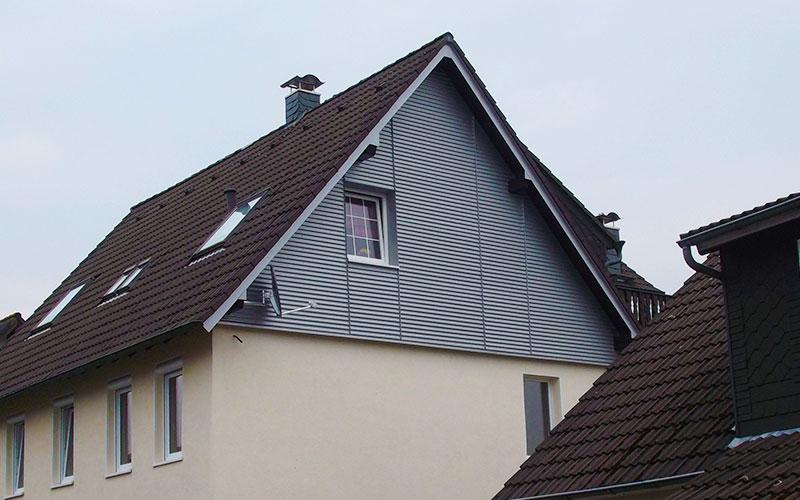 Giebelsanierung an einem Wohnhaus